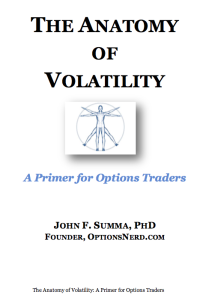 Free ebook on volatility written by John Summa
